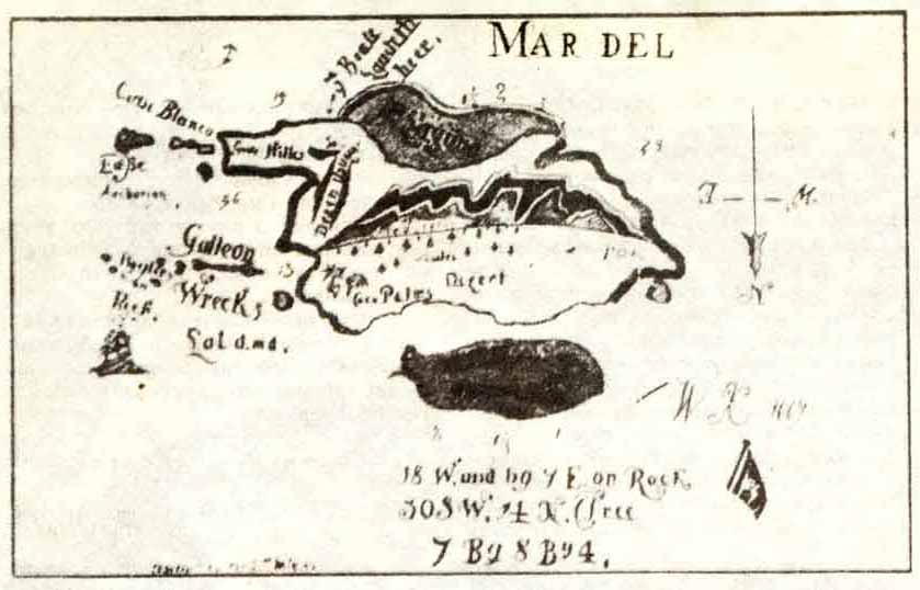 Старинная пиратская карта
