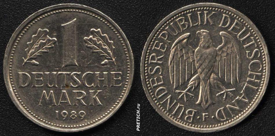 1 Deutsche Mark 1989
