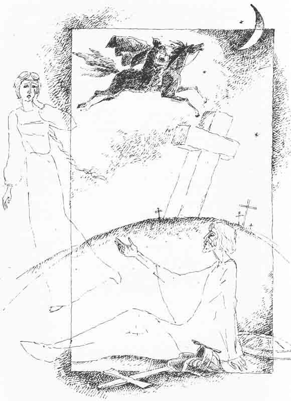 иллюстрации к балладе светлана жуковского набросок карандашом внешности