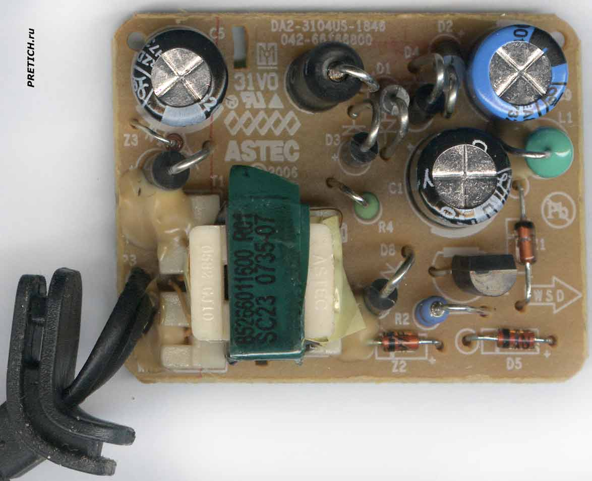 NOKIA AC-3X плата ASTEC DA2-3104US-1845 зарядка
