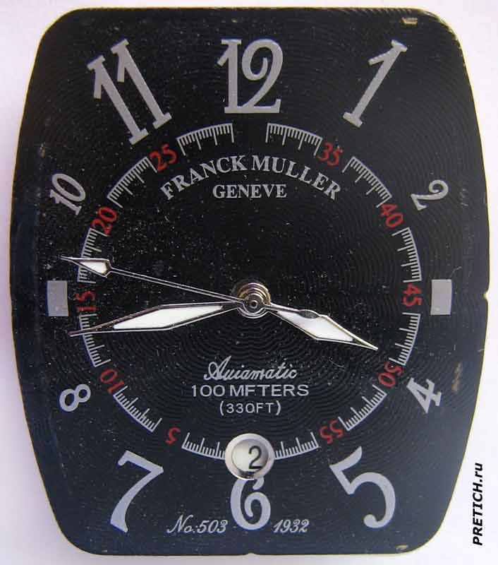 Franck Muller Automatic 100 MFTERS (330FT) циферблат
