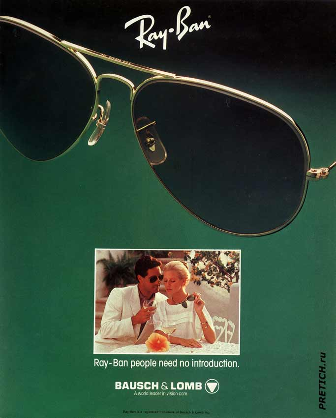 Ray-Ban BAUSCH & LOMB. Ray-Ban people need no introduction