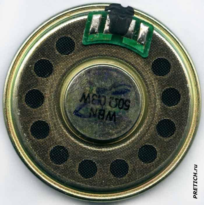 WBN 50Ω 0.3W динамик в квартирном аппарате домофона