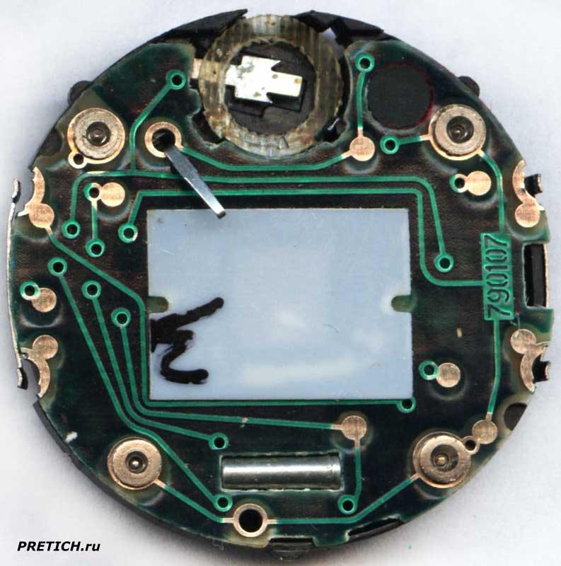 Электроника 55 плата 790107 электронные часы