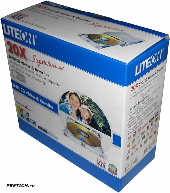 LITE-ON DH-20A3S обзор DVD-RW привода, бокс